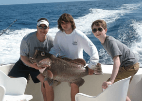 Grouper fishing is a lot of fun on Bluefin.