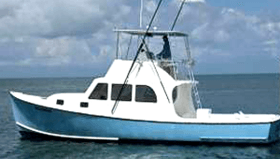 Side View of Bluefin Boat.